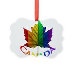 Gay Pride Canada Souvenir Picture Ornament