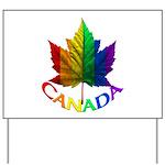 Gay Pride Canada Souvenir Yard Sign