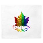 Gay Pride Canada Souvenir King Duvet