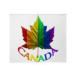 Gay Pride Canada Souvenir Throw Blanket