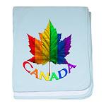 Gay Pride Canada Souvenir baby blanket