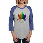 Gay Pride Canada Souvenir Womens Baseball Tee
