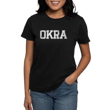 OKRA, Vintage Women's Dark T-Shirt