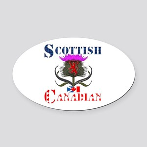 Scottish Canadian Thistle Oval Car Magnet