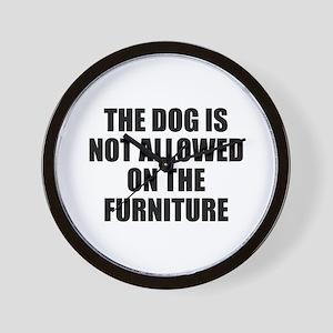 Dog Rules Wall Clock