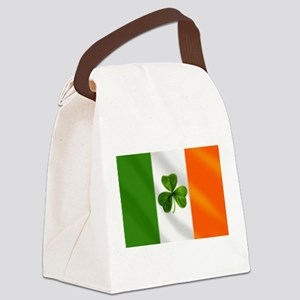 Irish Shamrock Flag Canvas Lunch Bag
