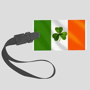 Irish Shamrock Flag Large Luggage Tag