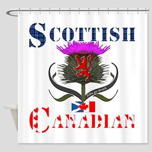 Scottish Canadian Thistle Shower Curtain