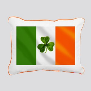 Irish Shamrock Flag Rectangular Canvas Pillow