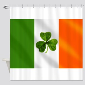 Irish Shamrock Flag Shower Curtain