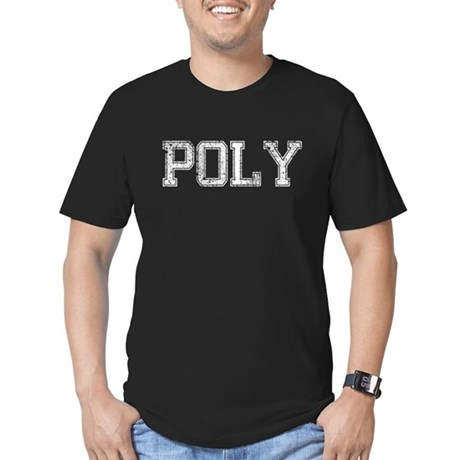 POLY, Vintage Men's Fitted T-Shirt (dark)