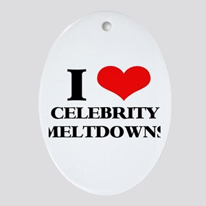 Celebrity Meltdowns Oval Ornament