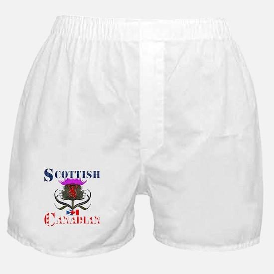 Scottish Canadian Thistle Boxer Shorts