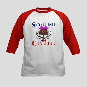 Scottish Canadian Thistle Kids Baseball Jersey
