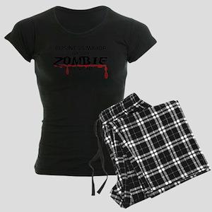 Business Major Zombie Women's Dark Pajamas