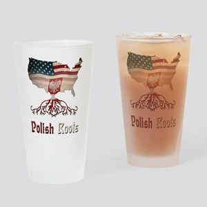 American Polish Roots Drinking Glass