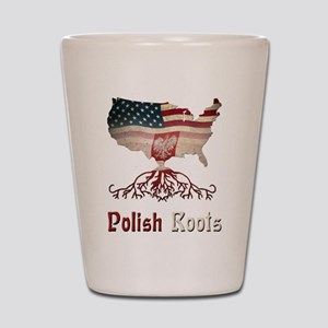 American Polish Roots Shot Glass