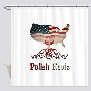 American Polish Roots Shower Curtain
