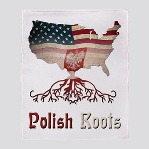 American Polish Roots Throw Blanket