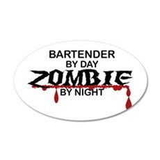 Bartender Zombie Wall Decal