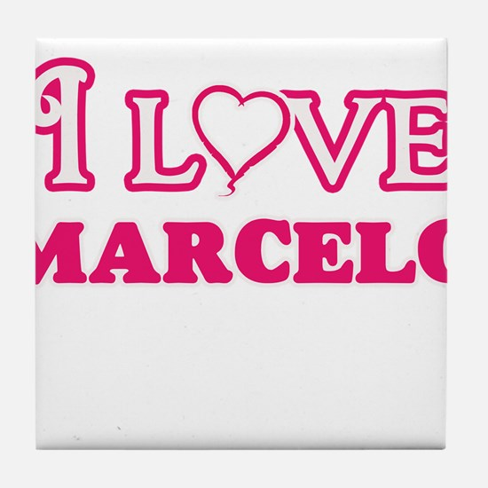 I Love Marcelo Tile Coaster