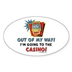 Out of my way! Oval Sticker