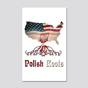 American Polish Roots 20x12 Wall Decal