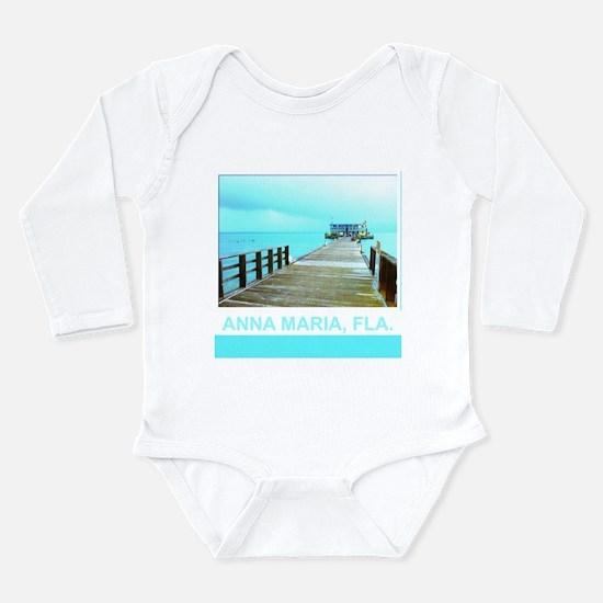 Cool Rod & Reel Pier Long Sleeve Infant Bodysuit
