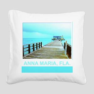 Cool Rod & Reel Pier Square Canvas Pillow