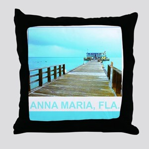 Cool Rod & Reel Pier Throw Pillow