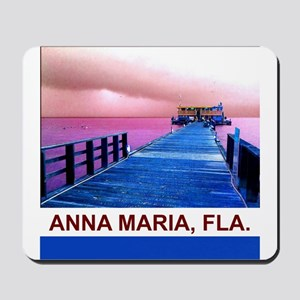 Pink and blue Rod & Reel Pier Mousepad