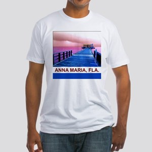 Pink and blue Rod & Reel Pier Fitted T-Shirt
