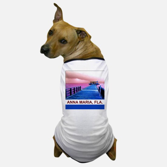 Pink and blue Rod & Reel Pier Dog T-Shirt