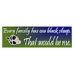 Black Sheep Sticker (Bumper)