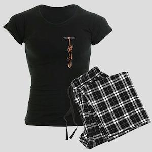 Clingy Red Dobe Women's Dark Pajamas