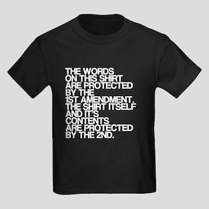 Funny, Pro Gun Rights Shirt, Kids Dark T-Shirt