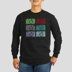 Cameras, Warhol, Vintage Long Sleeve Dark T-Shirt