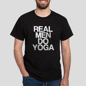 Real Men Do Yoga Dark T-Shirt