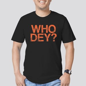 WHO DEY?, Vintage, Men's Fitted T-Shirt (dark)