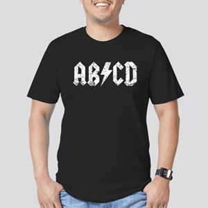 ABCD, Vintage, Men's Fitted T-Shirt (dark)