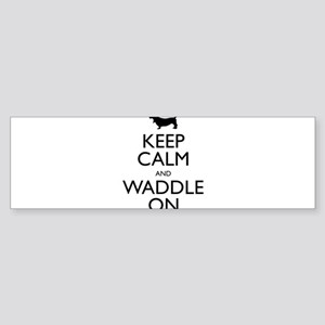 Keep Calm and Waddle On Sticker (Bumper)