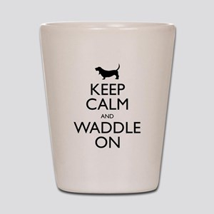 Keep Calm and Waddle On Shot Glass
