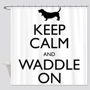 Keep Calm and Waddle On Shower Curtain
