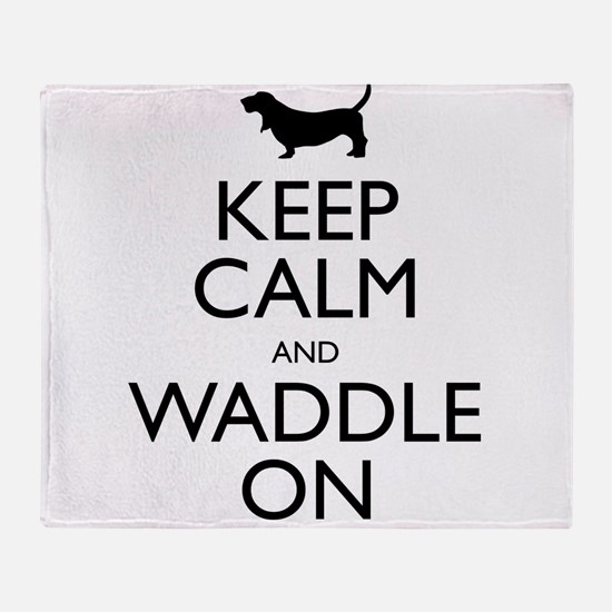 Keep Calm and Waddle On Throw Blanket