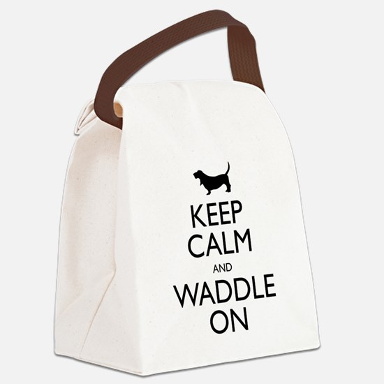 Keep Calm and Waddle On Canvas Lunch Bag