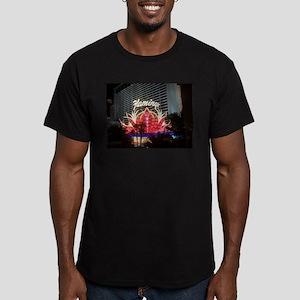 Flamingo Hotel Las Vegas Men's Fitted T-Shirt (dar