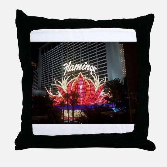 Flamingo Hotel Las Vegas Throw Pillow