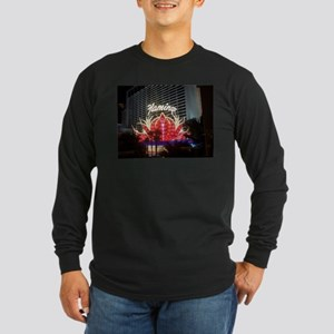 Las Vegas Flamingo Hotel Long Sleeve Dark T-Shirt