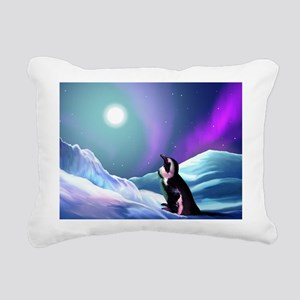 Contemplative Penguin Rectangular Canvas Pillow