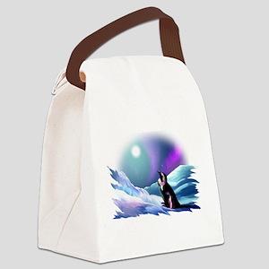 Contemplative Penguin Canvas Lunch Bag